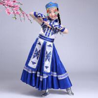 女童蒙古舞服装儿童民族舞蹈衣公主裙民族风舞台服装内蒙舞蹈服装