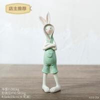 创意可爱兔子汽车装饰品车载摆件家居北欧个性电视柜桌面礼物摆饰SN8634