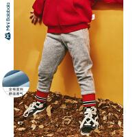 【每满299元减100元】迷你巴拉巴拉女童长裤儿童显瘦修身脚口收口卫裤2019秋装新品裤子