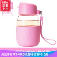 玻璃水杯便携女学生韩国清新超可爱企鹅嘟嘟儿童杯防摔杯子