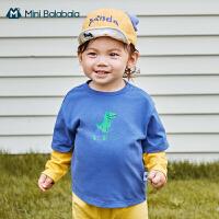迷你巴拉巴拉婴儿长袖T恤男宝宝外出长袖衣服全棉2020秋季新款