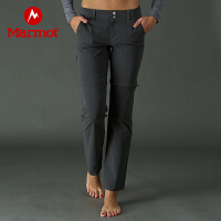Marmot/土拨鼠户外运动女士轻薄弹力速干长裤可调节短裤