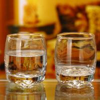 无铅玻璃烈酒杯白酒杯威士忌杯洋酒杯水杯KTV专用杯6只装 图片色