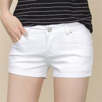 牛仔短裤女夏白色百搭牛仔裤春2019新款韩版紧身学生高腰显瘦热裤