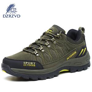 杜戛地秋冬新款户外鞋男女 徒步鞋透气耐磨登山鞋 大码防滑爬山鞋