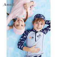 【3件3折价:83.7】安奈儿童装男女童泳衣套装2020新款洋气长袖防晒儿童分体式泳装夏