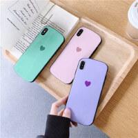 简约爱心8plus苹果x手机壳XS Max/XR/iPhoneX/7p/6s女iphone11Pro硅胶套个性创意日韩国