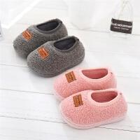 儿童拖鞋冬男女宝宝家居鞋秋室内幼儿园包跟小孩棉鞋1-3岁棉拖鞋