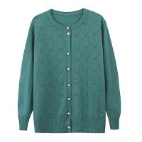 妈妈装新款秋冬装打底衫女中老年加大码长袖针织衫毛衣开衫外套春