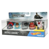 风火轮火辣小跑车收藏版 正义联盟5辆装 蝙蝠侠超人男孩玩具DXN59 正义联盟角色小车5辆装 DXN59