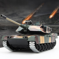 遥控坦克可发射超大型金属美国M1A2合金履带式越野车对战可发射军事模型玩具