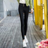 加绒加厚打底裤女外穿高腰黑色学生韩版显瘦保暖裤2019冬季裤子女