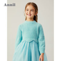 【2件4折 �A估券后�r:183】安奈�和��b女童拼接�W��B衣裙2020冬季新款洋�馀�孩��公主裙子