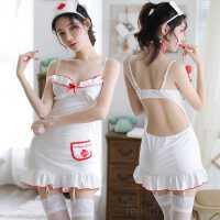 情趣超骚内衣性感小胸挑逗透明护士制服女诱惑吊袜带激情用品套装
