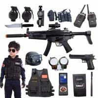 男孩电动玩具枪套装 吃鸡绝玩具 awm 可发射水弹 小特警衣服