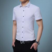 男装衬衫2019春新款男士衬衫短袖韩版修身青年商务休闲职业装白衬衣男短袖