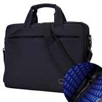 惠普戴尔苹果12寸14寸15寸15.6寸18.3单肩手提男女式笔记本电脑包 精装气囊版黑色 17.3英寸
