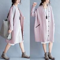特大码女装胖妹妹秋装开衫加厚外套中长款长袖上衣冬装200斤胖mm