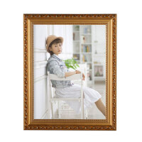 欧式相框10寸12 16 18 20 24 A3 A4婚纱照片儿童摆台挂墙家居日用家装软饰 8090全金 小12寸【2