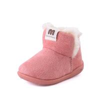 儿童棉鞋毛毛鞋2018新款冬季加绒1-3岁男女宝宝冬鞋