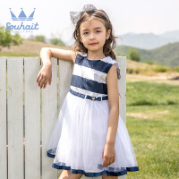 【秒杀价:119元】souhait水孩儿童装夏季新款儿童礼服裙儿童裙子纱裙公主裙AZEXM492