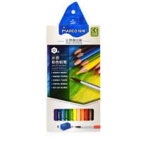 马可4320美术彩色铅笔12色 水溶性彩铅72色 绘画工具36色六角杆 学生手绘彩铅笔48色 涂色笔24色