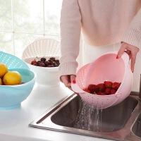白领公社 洗菜筐 加厚厨房旋转洗菜器塑料沥水洗菜篮