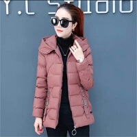 冬季外套小棉袄2019女韩版女装修身加厚连帽短款棉衣 砖 L 建议80斤--95斤