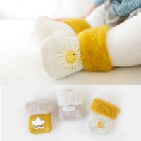 秋冬男女宝宝袜子儿童松口毛圈婴儿袜子保暖毛巾袜