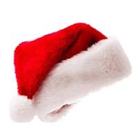 圣诞节装饰品圣诞老人帽子圣诞礼物加厚儿童带灯卡通帽子批发