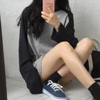 原宿bf风韩版早秋冬季上衣服情侣长袖女装T恤学生宽松大码打底衫