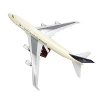 飞机仿真模型747新款带声控LED灯沙特航空波音747-400仿真飞机模型客机礼品摆件