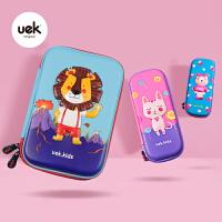 UEK卡通动物园笔袋女简约小学生文具盒男大容量儿童铅笔盒可爱幼儿园