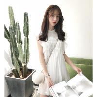 普吉岛沙滩裙女夏超仙海边度假蕾丝连衣裙泰国三亚仙女裙chic温柔 白色