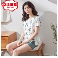 短袖情侣睡衣 韩版夏季新款男女士纯棉睡衣家居服套装批发销售