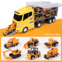 铝合金玩具小汽车 儿童挖掘机玩具车大卡车套装男孩0-1-2-3-4岁仿真合金小汽车模型6
