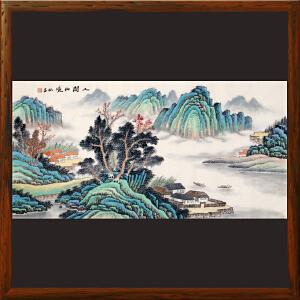 《人间仙境》石振昌 R5153   精品手绘山水画