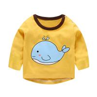 婴儿秋装3男童长袖T恤0小童秋衣上衣1岁春秋女童宝宝打底衫2
