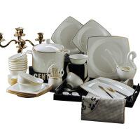【特惠购】碗碟套装吃饭套碗盘子家用欧式简约瓷碗景德镇陶瓷器骨瓷组合餐具 图片色