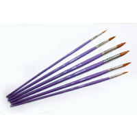 莫奈 狼毫混合毛圆头水彩画笔/水粉笔/勾线笔 紫色杆