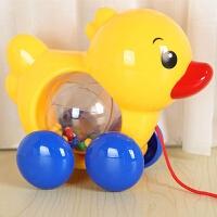 牵拉玩具 宝宝拖拉学步玩具车幼儿园1-3岁儿童牵引手拉绳响铃鸭子拉线小狗
