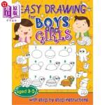 【中商海外直订】Easy drawing for boys and girls aged 3-5: with step