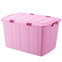 350L特大号整理箱塑料衣服被子收纳箱有盖长方形储物箱加厚超大码 超大350L95x67x54cm