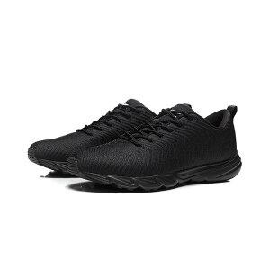 李宁LINING跑步鞋男鞋轻质轻便防滑早晨跑跑鞋鞋子男士冬季黑色低帮运动鞋ARBN227-2