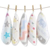 纱布毛巾婴儿口水巾宝宝洗脸巾儿童小方巾手帕围嘴软用品