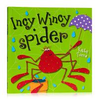 小小蜘蛛 Incy Wincy Spide 英文原版绘本 Kate Toms 凯特汤姆 Make Believe Id
