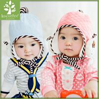 韩国KK树婴儿帽子秋冬新生儿套头帽6-12个月宝宝帽子小孩胎帽男女