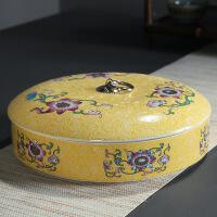 紫砂茶�~罐陶瓷茶�罐357克普洱茶盒白茶�存醒茶罐茶包�b盒家用
