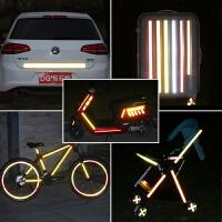 反光贴电动自行车摩托汽车贴纸改装饰条警示安全醒目车身夜光膜