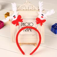圣诞头箍发箍圣诞节眼镜装扮圣诞老人鹿角头饰发夹儿童圣诞帽
